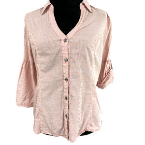 American Rag Bell Sleeve  Button Down Sandstone- M